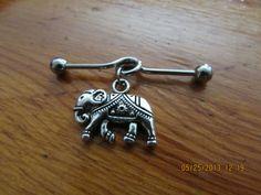 Industrial Barbell - Silver Elephant Industrial Barbell - Industrial Piercing