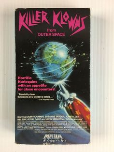 Killer Klowns From Outer Space (VHS, 1989) Rare Media Video The Dickies