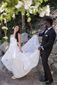 Perfect setting and temperature. Elopement Inspiration, Garden Wedding, Wedding Ceremony, Wedding Dresses, Ideas, Fashion, Bride Dresses, Moda, Bridal Gowns