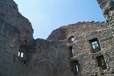 Ruine Altbodman. Wanderung am Uferweg zum Marienschlucht, lange 15,7 km.