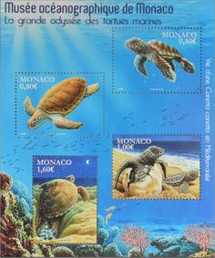 Stamp: Turtles (Monaco) (Turtles) Mi:MC BL118,Yt:MC F3031