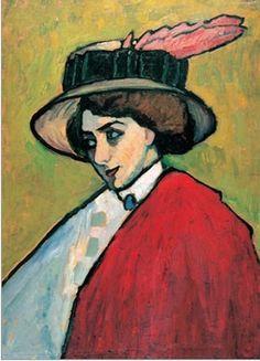 Gabrielle Munter, 1909 (partners with Kandinsky during the Blaue Reiter period