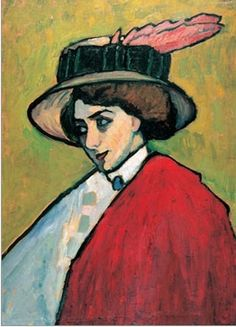 Gabrielle Munter, 1909 (partners with Kandinsky during the Blaue Reiter period