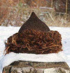 Barbaar wollen hoed CAP voelde wol Viking Vikingen Norse leven