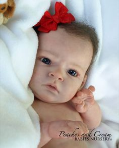 "PEACHES AND CREAM ~ NEW RELEASE ""Sabrina"" Reva Schick ~ Reborn Baby Girl Starr ~ | eBay"