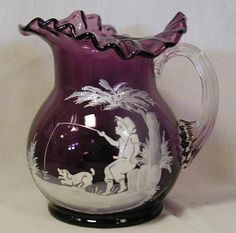 fenton glass collectibles | Collectible Glass » Mary Gregory Glass Here