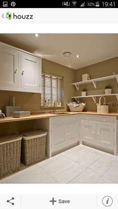 Basement Laundry Room Decorations Ideas And Tips 2018 Small laundry room ideas Laundry room decor Laundry room makeover Farmhouse laundry room Laundry room cabinets Laundry room storage Box Rack Home Modern Laundry Rooms, Farmhouse Laundry Room, Farmhouse Style, Country Style, Basement Laundry, Farmhouse Homes, Country Homes, Farmhouse Shelving, Farmhouse Baskets