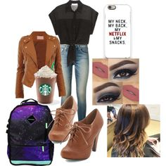 """First day at college"" by mollie-porter on Polyvore"