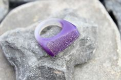 Druzy agate purple ring carved gemstone all stone chunky unique hand made us 8    eBay