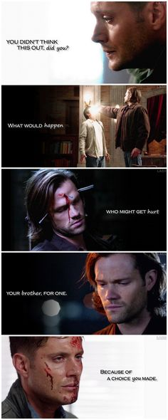 [gifset] These are the consequences. #SPN #Dean #Sam