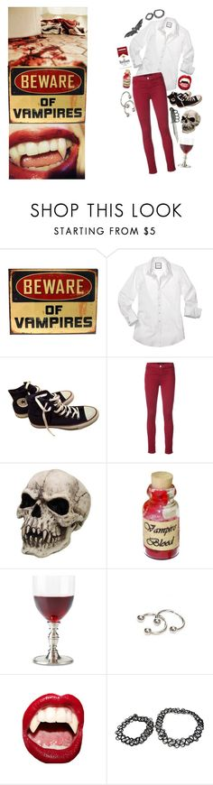 """the love we share seems to go nowhere"" by exotic-demon-wolf ❤ liked on Polyvore featuring Converse, J Brand, Match and Manic Panic NYC"