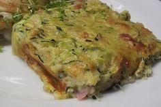 Savory zucchini cake from Backwahnmary Pizza Snacks, Zucchini Cake, Zucchini Sticks, Campfire Food, Pizza Logo, Peanut Sauce, Vegan Breakfast Recipes, Eating Habits, Low Carb Recipes