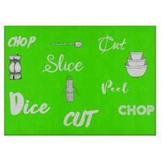 Lime Green Kitchen, Green Kitchen Decor, Kitchen Ideas, Glass Cutting Board, Cutting Boards, Dice, Kitchen Gadgets, Kitchens, Coffee