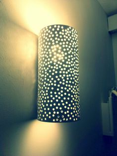 Diy lamp  could do that with pvc or pringels or just paper... So many possibilities