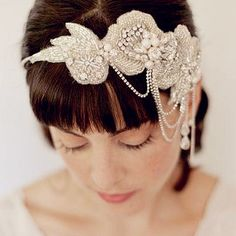 Pearl Bridal Headbands With Ribbon Silver Crystal Hair Head Chain Vintage Wedding Headpieces Tiaras Bride Headband Accessories