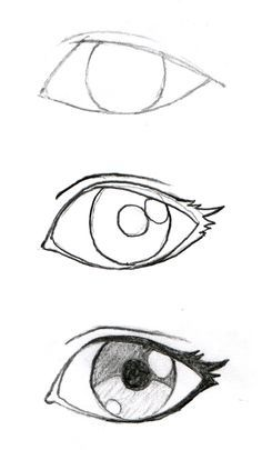 Some good eyelash info! JohnnyBro's How To Draw Manga: Drawing Manga Ey. Some good eyelash info! JohnnyBro's How To Draw Manga: Drawing Manga Eyes (Part I) - Drawing Techniques, Drawing Tips, Drawing Reference, Drawing Sketches, Sketching, Drawing Drawing, Eye Sketch, Easy Sketches For Beginners, Anime Sketch