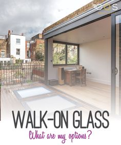 Have you considered Walk-On Glass? This is a graet way of allowing natural light into a basement or single storey extension. #walk-on-glass #glasswalkway #eosrooflights
