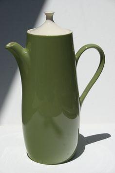 Vintage Mid Century Modern Avocado Green Coffee Pot   #ModernThanksgiving