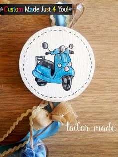 Vespa Favor Bike Baby Shower Bike Birthday by CustomMadeJust4You