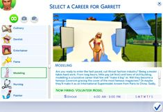 Mod The Sims - Modeling Career--2 tracks