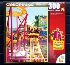 """Colorluxe 300 Piece """"Roller Coaster Ride"""" Puzzle Lafayette Puzzle Factory http://www.amazon.com/dp/B00HP8OOC0/ref=cm_sw_r_pi_dp_b85Yvb0EQP20K"""