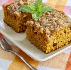 Pumpkin Coffee Cake with a Brown Sugar Glaze is the BOMB!  #MyAllrecipes #AllrecipesAllstars  #AllrecipesFaceless
