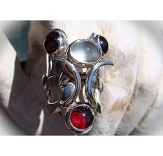https://www.etsy.com/treasury/MTU5NDMzNDB8MjcyMjM4OTEyMw/september-musing-2 Frost Ring of Numen Dea...OOAK Sterling by TheSilverCrucible, $333.00