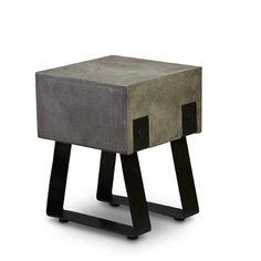 Industrial Stool - stone top
