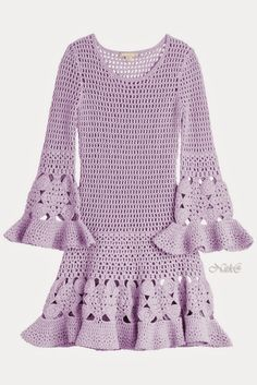 Michael Kors Spring 2015   Crocheted cashmere-blend mini dress    50% cashmere, 50% wool           Blue Crocuses   you will find thi...