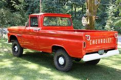 Red 1960 Chevy Apache 10 4x4