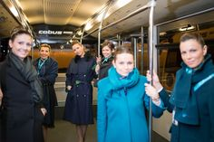 Lara, Francesca and Anna on the shuttle bus to the aircraft #airdolomiti25  Photo by Aleksandr Dal Cero
