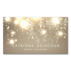 Gold Subtle Glitter Bokeh Business Card