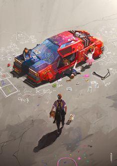 Cyberpunk City, Spaceship Concept, Environment Concept Art, Video Game Art, Retro Futurism, Car Wallpapers, Sci Fi Art, Guardians Of The Galaxy, Art Blog