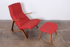 Grasshopper Chair and Ottoman by Eero Saarinen for Knoll 2
