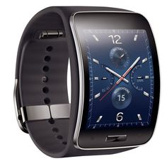 Samsung on Thursday unveiled the Gear S, its latest smartwatch model that also doubles as a smartphone. The device doesn't run Android Wear or Android, and instead relies on Samsung's in-house mobile operating system to get things done. Android Wear, Wearable Device, Wearable Technology, Wearable Computer, Mobile Technology, Digital Technology, Latest Technology, Cool Watches, Watches For Men