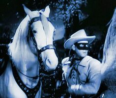 The Lone Ranger and Silver Clayton Moore, The Lone Ranger, Roy Rogers, Western Movies, Looney Tunes, Wild West, Lonely, Westerns, Horses