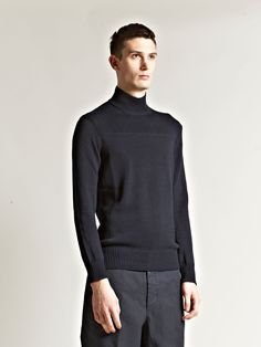 Maison Martin Margiela 10 Men's Polo Neck Fisherman Sweatshirt $495.40