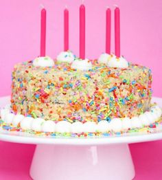 Rice Krispie Birthday Cake | TheBestDessertRecipes.com
