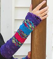 Ravelry: Spiral Stitch and Cabled Fingerless Gloves pattern by Karen Klemp