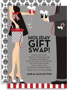 Holiday Gift Swap Invitation by Doc Milo