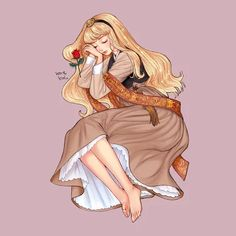 Princesa Disney Aurora, Disney Princess Aurora, Disney Princesses And Princes, Princess Bubblegum, Arte Disney, Disney Fan Art, Disney Magic, Disney Cartoons, Disney Movies
