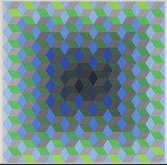 ION 10, from a series of eight prints 'Homage to the Hexagon' (1969;) Artist: Victor Vasarely, French (born in Hungary), 1908–1997