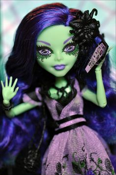Monster High Amanita Nightshade. Amanita is the bad seed of the Corpse Flower, which blooms every 1300 years.