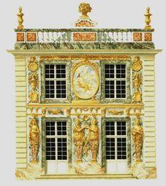 Disparu: le château de Marly Un des douze pavillons.