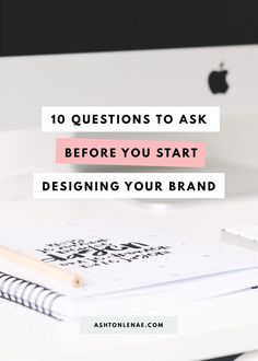 Brand strategy questions to ask before you start designing your brand. Creating a Brand Identity. Brand Design Tips. How to design your brand. #brandidentity #brandingtips