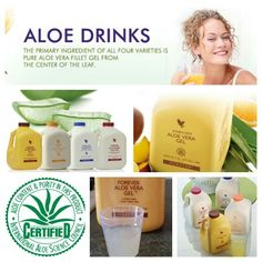 Forever Living Products- Aloe Vera Drinking Gel. Fantastic range of drinking gels using the highest quality ingredients combined with a healthy, balanced diet, offers a route to excellent health and wellbeing. With the primary ingredient of pure stabilised aloe vera fillet gel, taken from the centre of the leaf, each product offers a range of nutrients with a pureness that promotes optimal health and vitality.