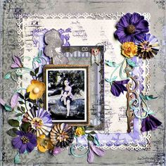 Once Upon A Time Layout by Lisa Novogrodski for BoBunny using Penny Emporium. #BoBunny @lnovogrodski