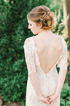 Lace bridal gown | photo by Bradley James Photography | 100 Layer Cake