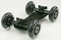 Amazon.com: Premium Flex Skater Dolly Stabilizer Table Top Slider for DSLR Camera WYD150: Camera & Photo