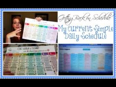 Getting Back on Schedule - My Current Simple Daily Schedule! | VIDEO | # Erincondren